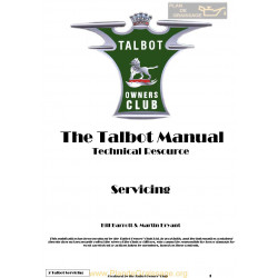 Talbot G2 Servicing