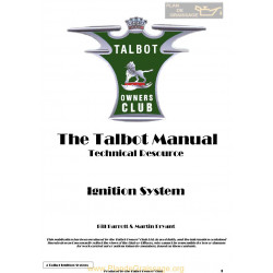 Talbot G4 Ignition System