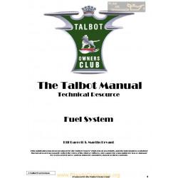 Talbot G5 Fuel System