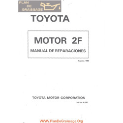 Toyota 2f Engine 1980 Manual Reparation