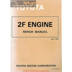 Toyota 2f Engine 1980 Repair Manual