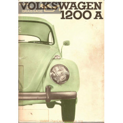 Volkswagen 1200 A Aout 1965 Bug Manual