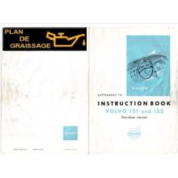 Volvo 121 122 Instruction Book Supplement