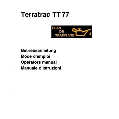 Aebi Terratrac Tt77 Mode D Emploi