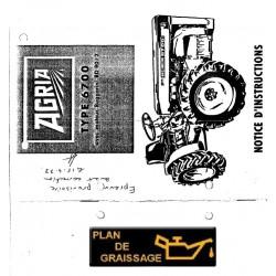 Agria 6700 Notice Utilisation