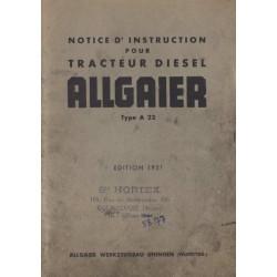 Allgaier A 22 Tracteur Diesel 1951
