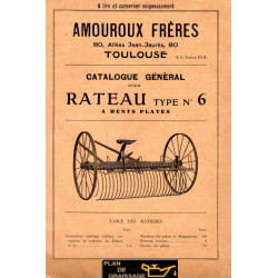 Amouroux N 6 Rateau A Dents Plates