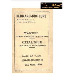 Bernard 110 610 810 Moteur