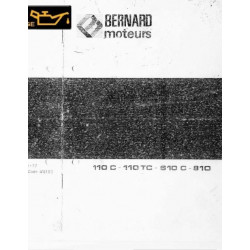 Bernard 110 C Tc 510c 810 Moteur