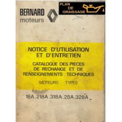 Bernard 18a 218a 318a 28a 328a Moteur