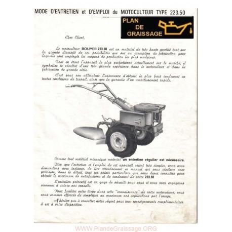 Bouyer 223 50 Motoculteurs