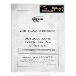 Bouyer 333 B4 B5 Motoculteurs