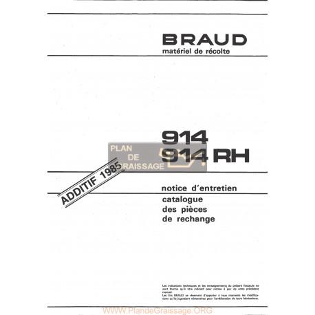 Braud 914 Rh Grape Harvester 1985