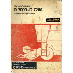 Case D7000 D7200 Moissbat Utilisation Moissonneuses