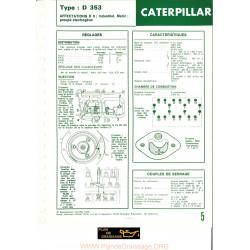 Caterpillar D343 Moteur