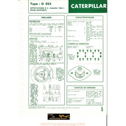 Caterpillar D353 Chenillards