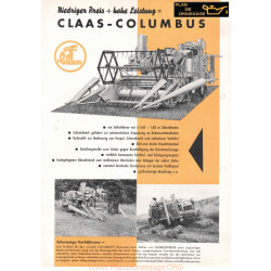 Claas Columbus Brochue Moissonneuses
