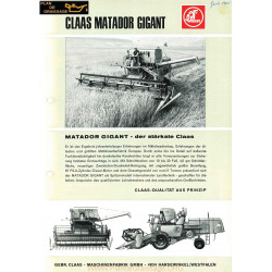 Claas Matador Gigant Moissonneuses