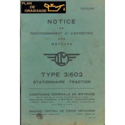 Clm 2 602 Notice Entretien Moteur 1956