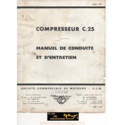 Clm C25 Livret Compresseur Moteur
