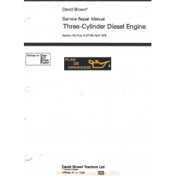 David Brown 3 Cylindres Moteur