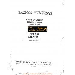 David Brown 4 Cylindres Moteur