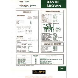 David Brown 770 Moteur