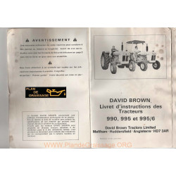 David Brown 990 995 Hd7 Tracteur