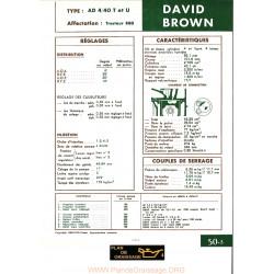 David Brown Ad4 40t U Moteur