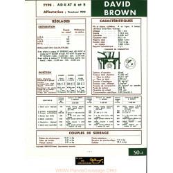 David Brown Ad4 47a B Moteur