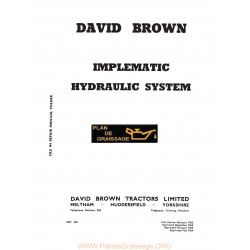 David Brown Implematic Hydraulics