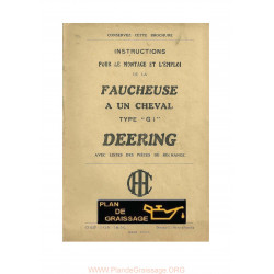 Deering G 1 Faucheuse