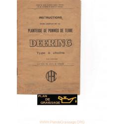 Deering Planteuse De Pommes De Terre