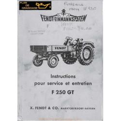 Fendt F 250 Gt Manuel