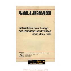 Gallignani Ramasseuses Presses Serie 2000