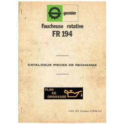 Garnier Fr 194 Faucheuse Rotative Pieces