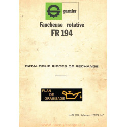 Garnier Fr 194 Pieces Faucheuse
