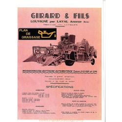 Girard 225 265 310 Moissonneuses