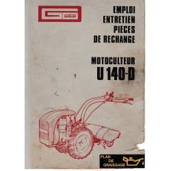 Gutbrod U140d Motoculteurs