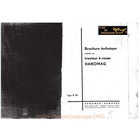 Hanomag R 35 Brochure Technique