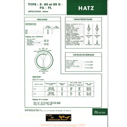 Hatz E 80 85g Fg Fl Moteur