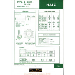 Hatz E Es71 75 79 Moteur
