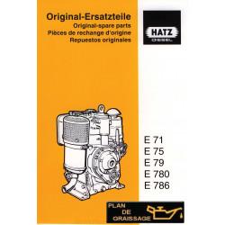 Hatz E71 E75 E79 E780 E786 Piece Rechange Moteur