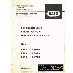 Hatz E80g E85g E89g E80fg E85fg E89fg Moteur