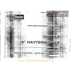 Hayter Mower Instruction Parts