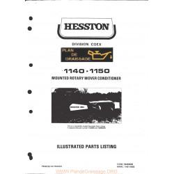Hesston 1140 1150 Mounted Rotary Mower