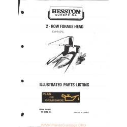 Hesston 2 Row Forage Head Header