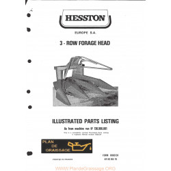 Hesston 3 Row Forage Head Header
