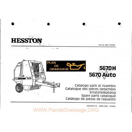 Hesston 5670 H Auto Baler