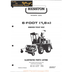 Hesston 6 Foot Windrow Pickup Head Header